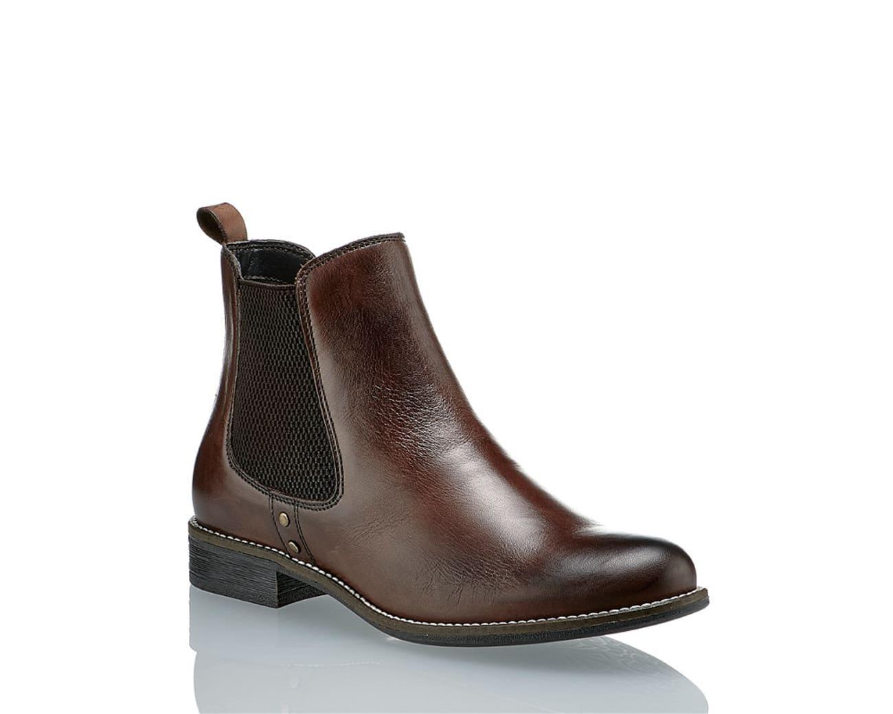 b8a138f03ee855 Varese Assen Damen Chelsea Boot Braun