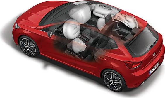 New SEAT Ibiza detailed airbags