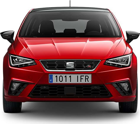 SEAT Ibiza car side exterior view reduced carbon emissions
