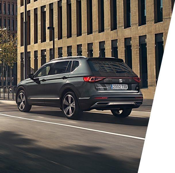 Nouvelle SEAT Tarraco, SUV 7 places, vue extérieure de l'arrière