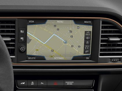 New SEAT Leon CUPRA R Navi System Plus technology detail