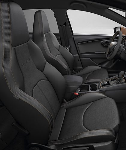 New SEAT Leon CUPRA R interior view bucket seats