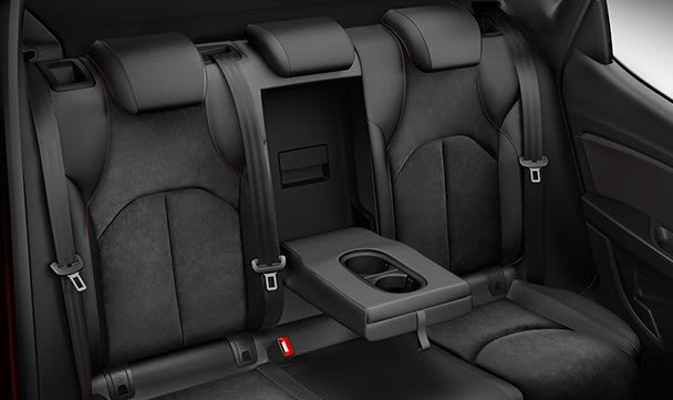 SEAT Leon 5 Türen Hintere Mittelarmlehne Alcantara