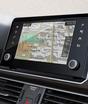 """8""""-Navigationssystem des SEAT Tarraco, des Grossraum-SUV, einschliesslich Strassenkarten"""