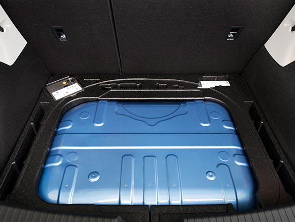 SEAT car interior compressed natural gas tank