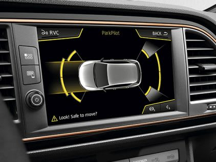 New SEAT LEON CUPRA R park distance control safety feature