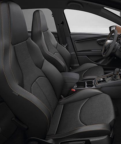 New SEAT Leon CUPRA R interior view bucket seats