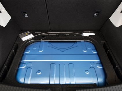 SEAT car interior compressed natural gas tank