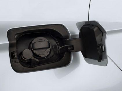 SEAT car compressed natural gas filler exterior