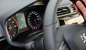 New SEAT Ibiza front view dashboard