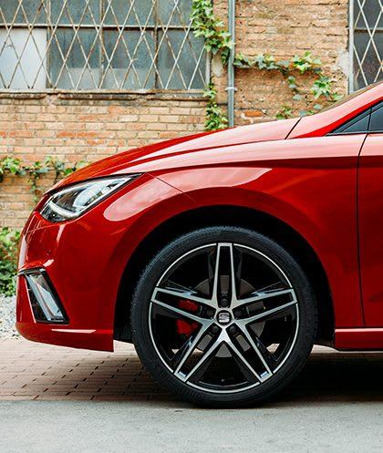 New SEAT Ibiza Alcantara Black front seats