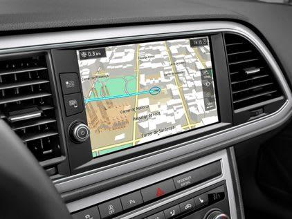 SEAT car interior dashboard console view