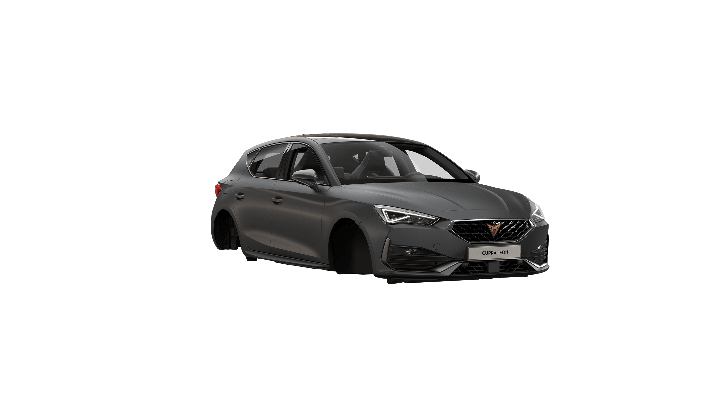 new CUPRA Leon ehybrid five door compact sports car available in magnetic tech matte colour