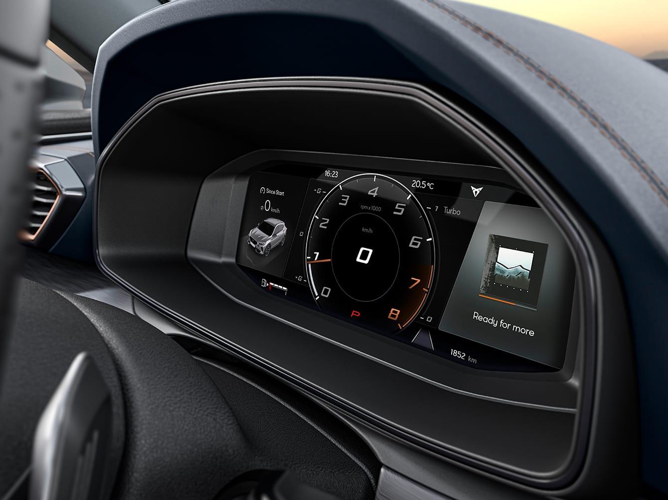 neuer cupra formentor, digitales cockpit mit 10.2-zoll-display