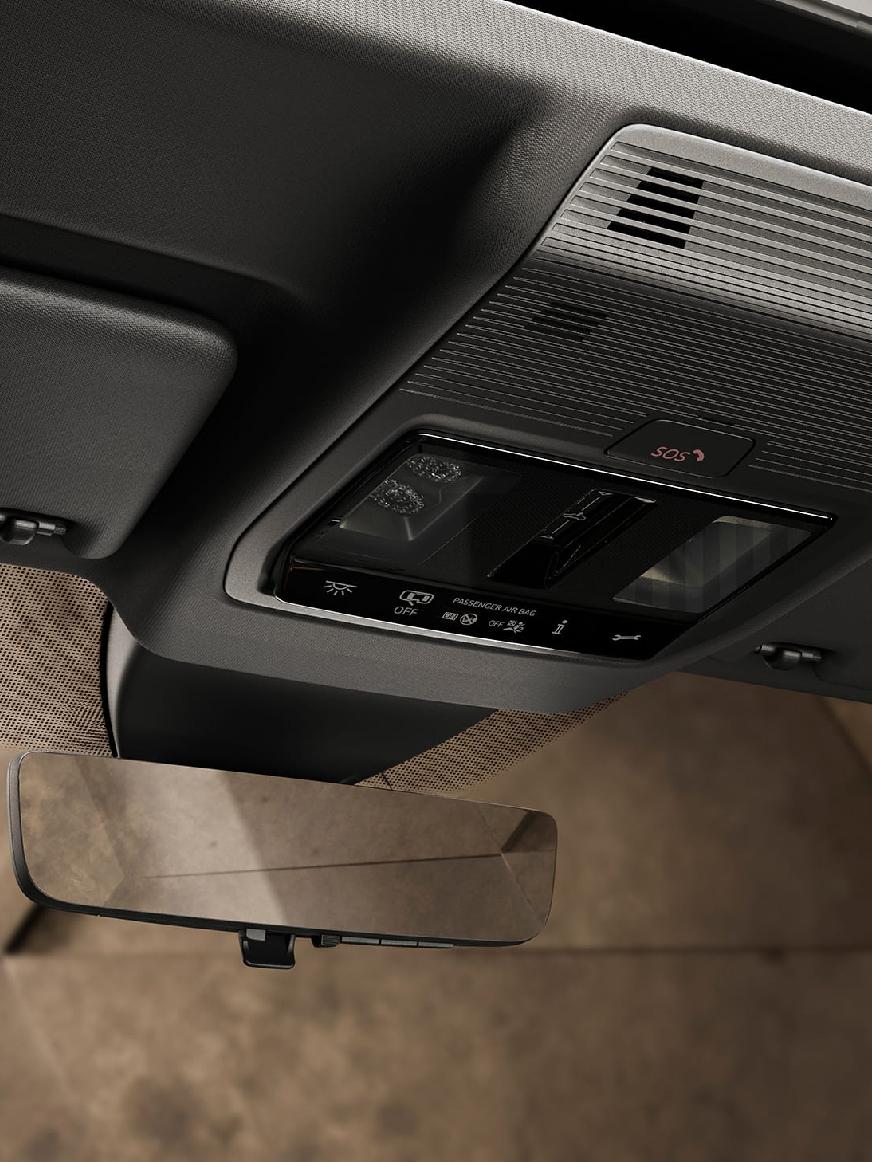 Neuer CUPRA Leon Sportstourer eHybrid Familiensportwagen, der Notruf wird automatisch abgesetzt. Sie können aber auch Hilfe rufen.