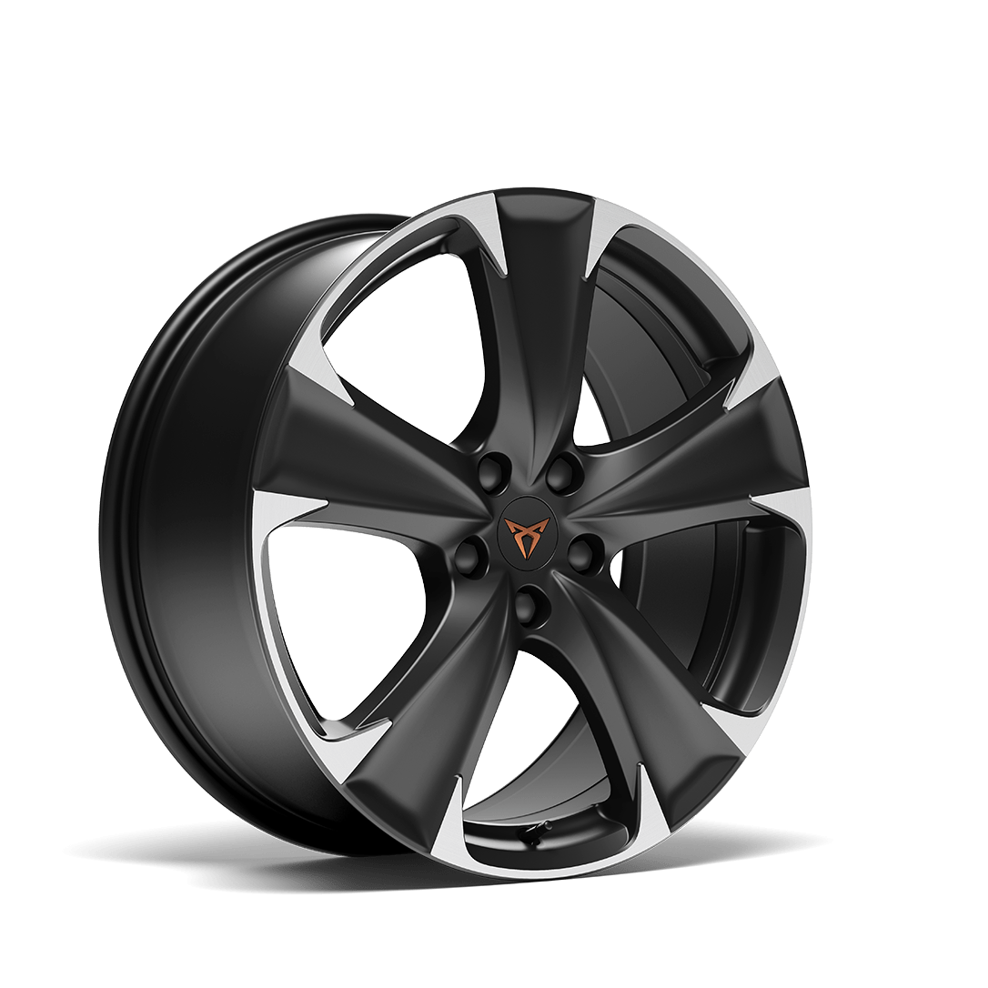 """new CUPRA Leon Sportstourer ehybrid Family Sports Car available with 19"""" Machined Alloy wheels in Sport Black and Silver"""