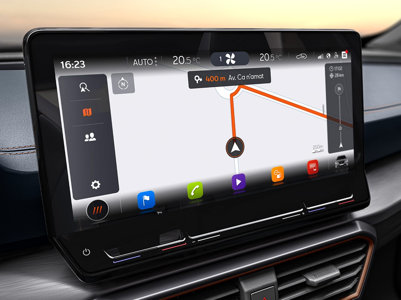 écran de navigation 12 pouces de la cupra formentor avec services de cartographie