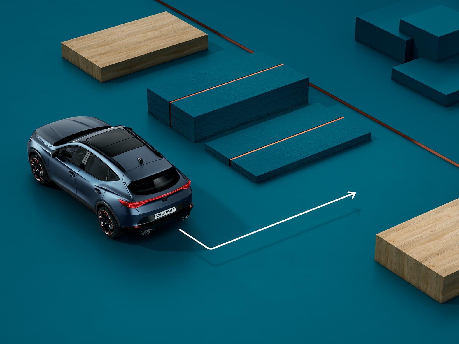 Nouvelle CUPRA Leon 5 portes ehybrid voiture de sport compacte avec fonction park assist