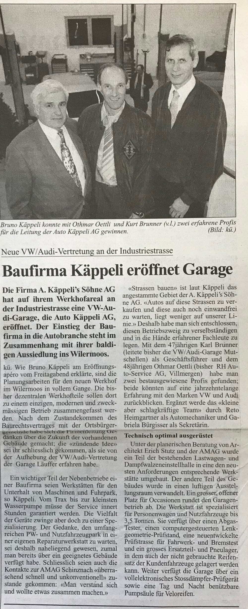 Zeitung 1996