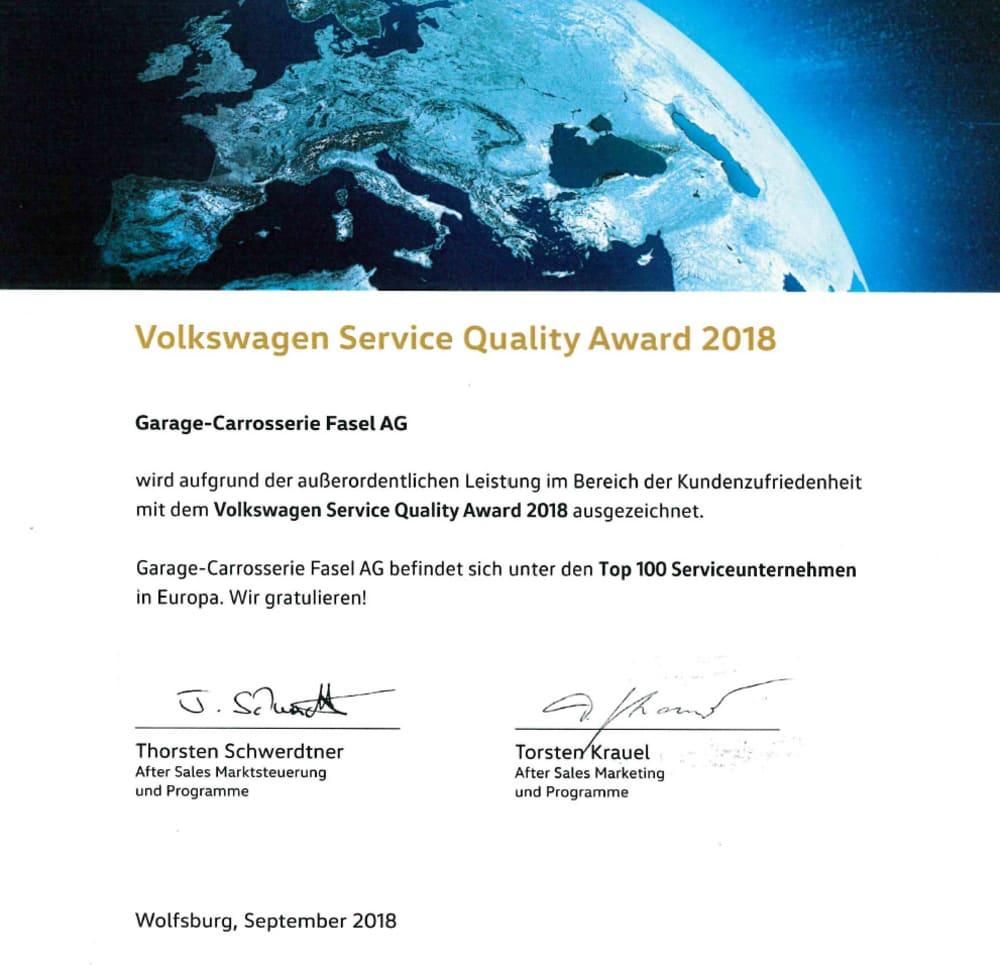 Volkswagen-Service-Quality-Award