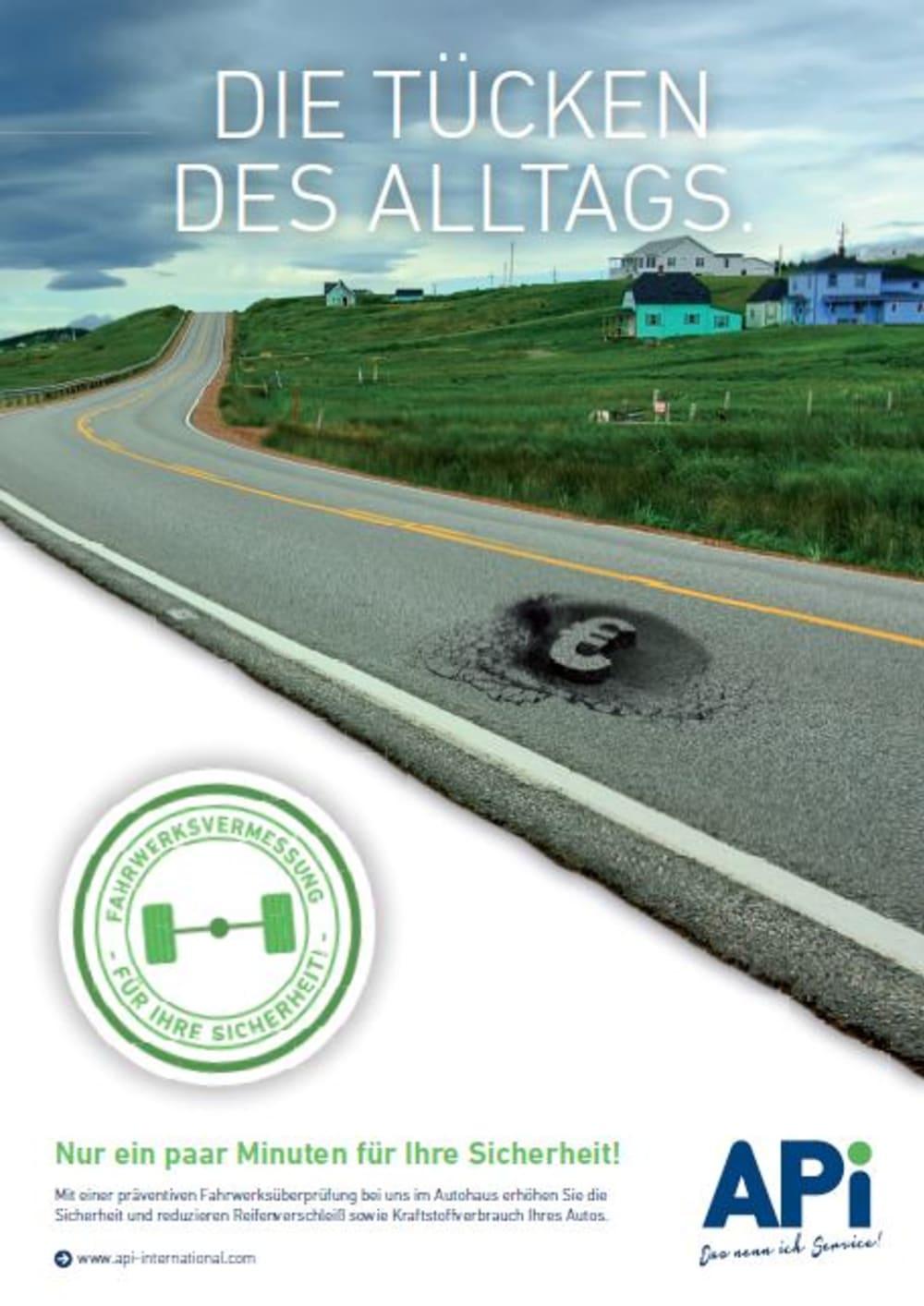 Bild Poster Schlagloch