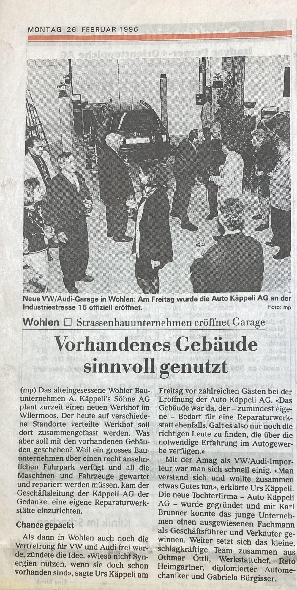 199602 Bericht Eröffnung
