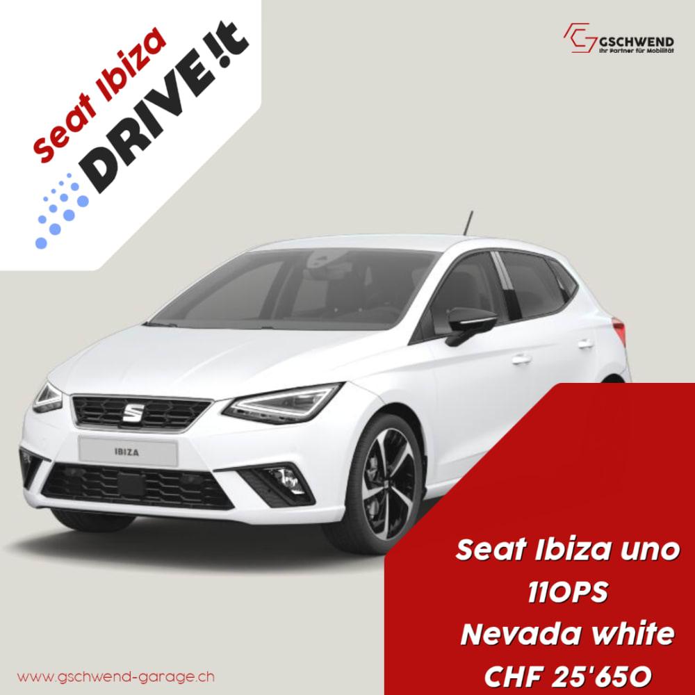 Drive it, uno, Nevada white