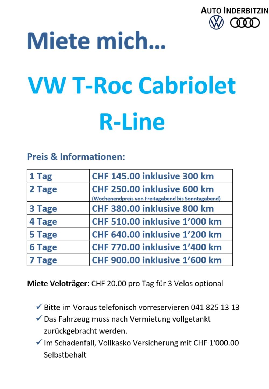 T-Roc Cabrio Miete