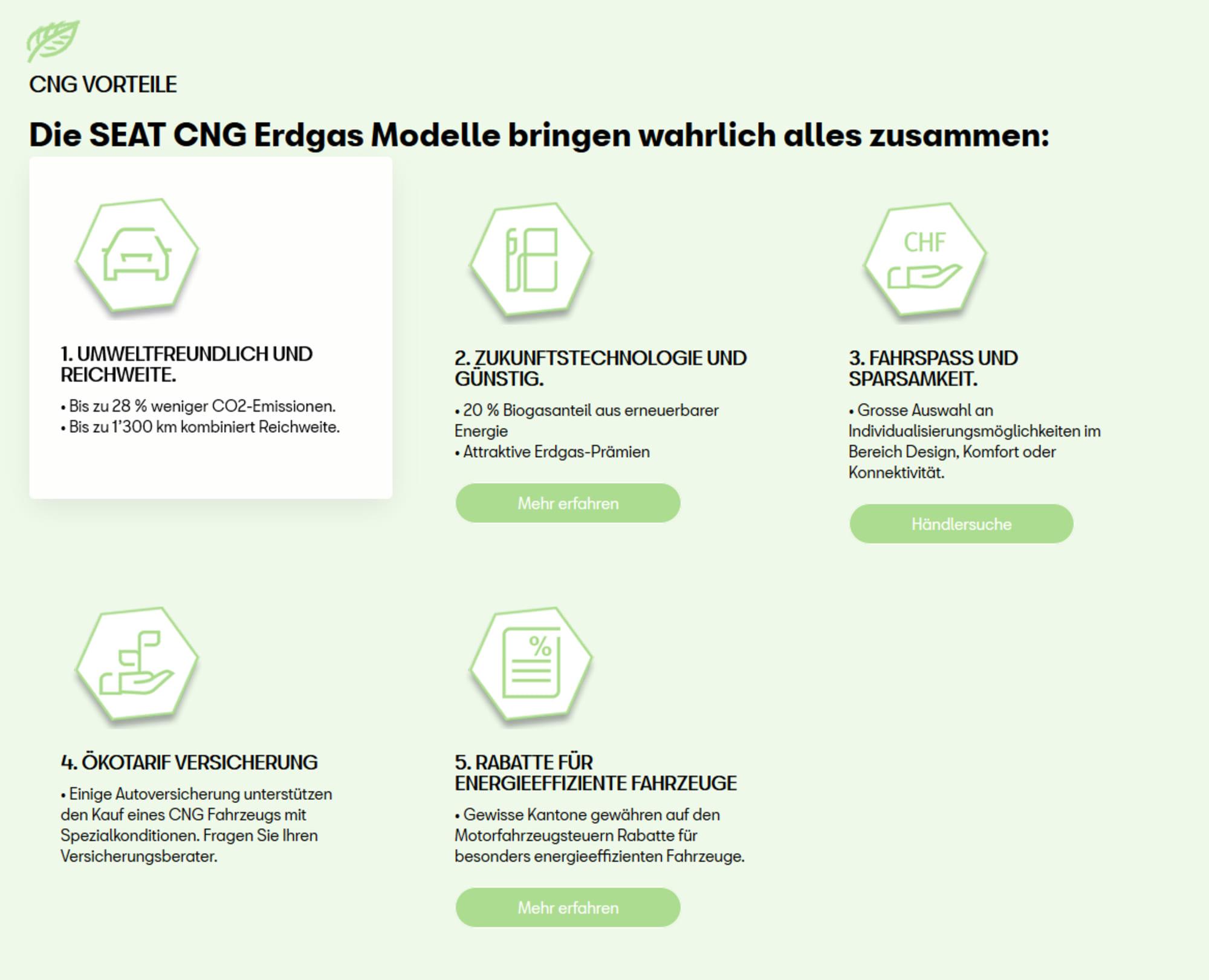 Seat CNG Info für Homepage
