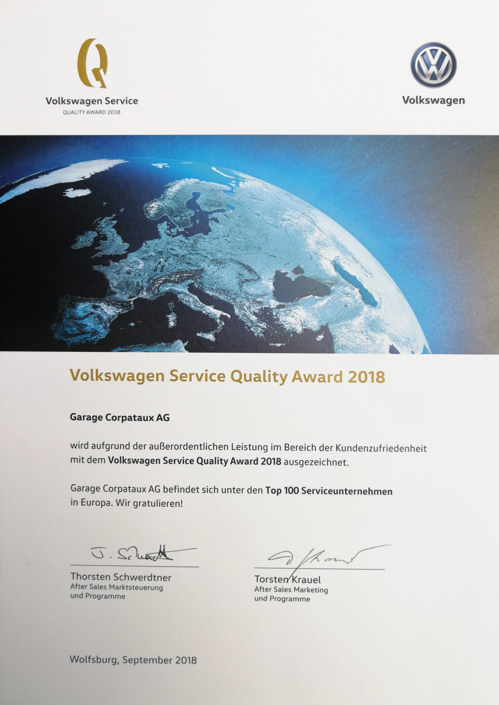 Service Quality Award 2018