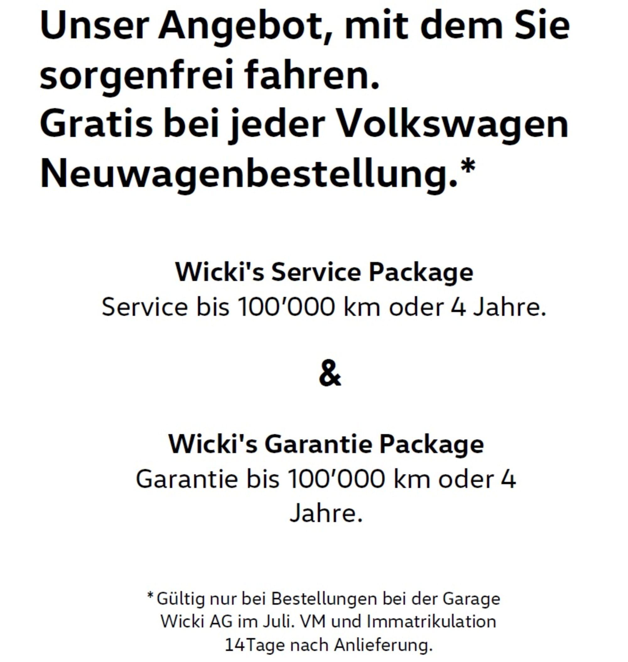 Sonderangebot Garage Wicki AG
