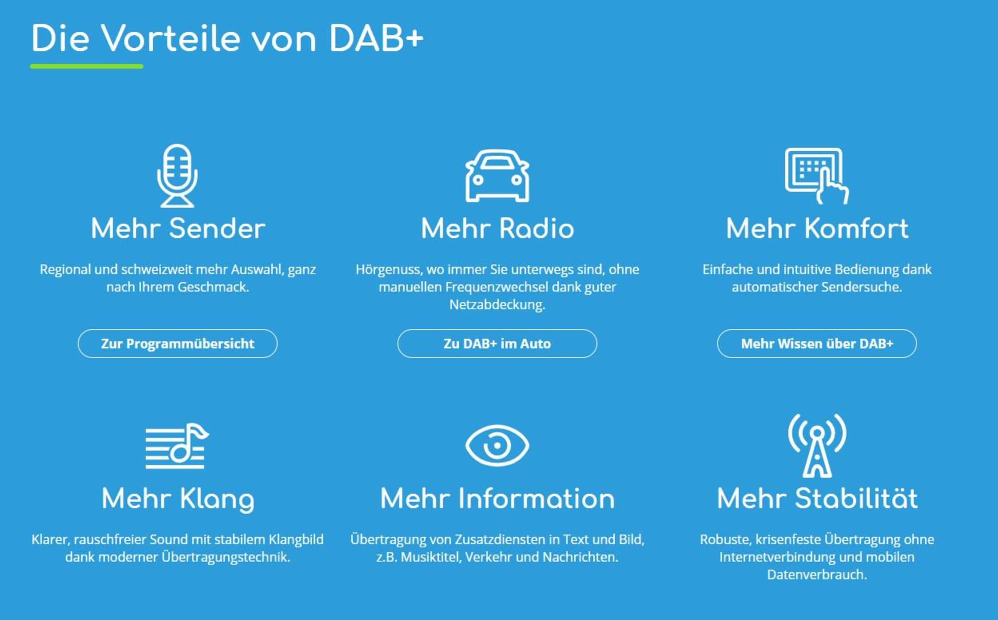 Vorteile DAB+