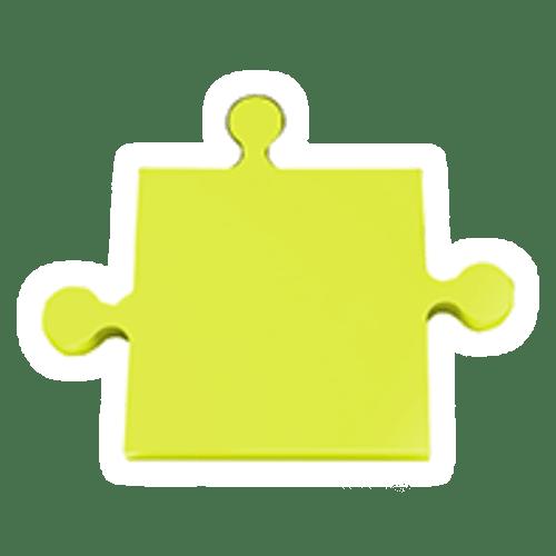 Puzzle-gelb