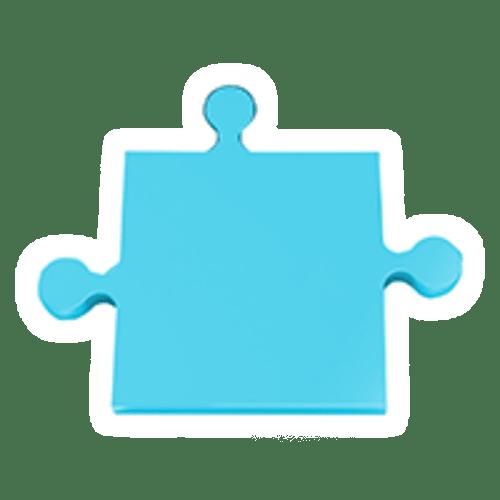 Puzzle-blau