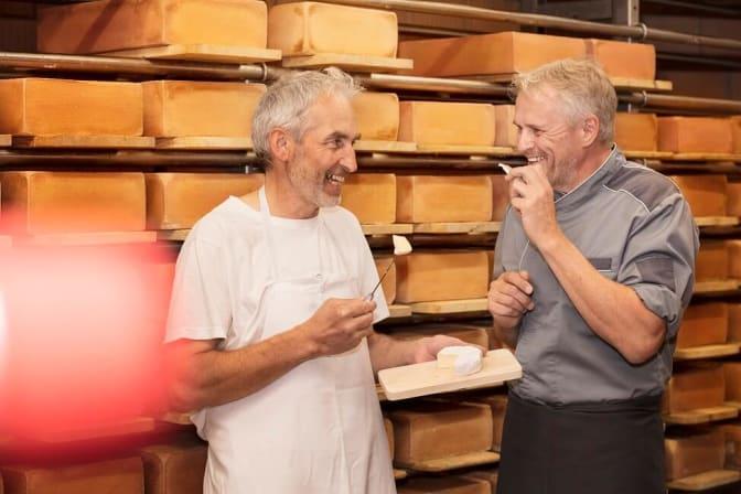 Käse aus der eignen Käserei in der Kartause Ittingen